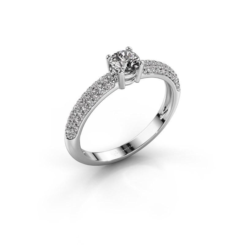 Verlovingsring Marjan 585 witgoud diamant 0.662 crt