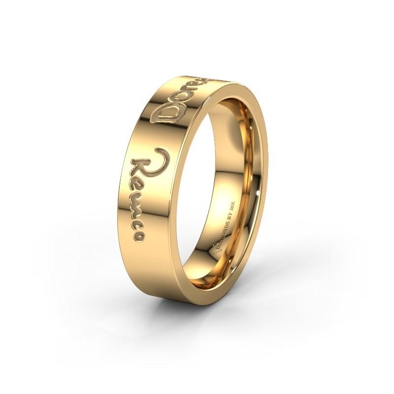 Trouwring WH2094M16C 585 goud ±6x2.2 mm