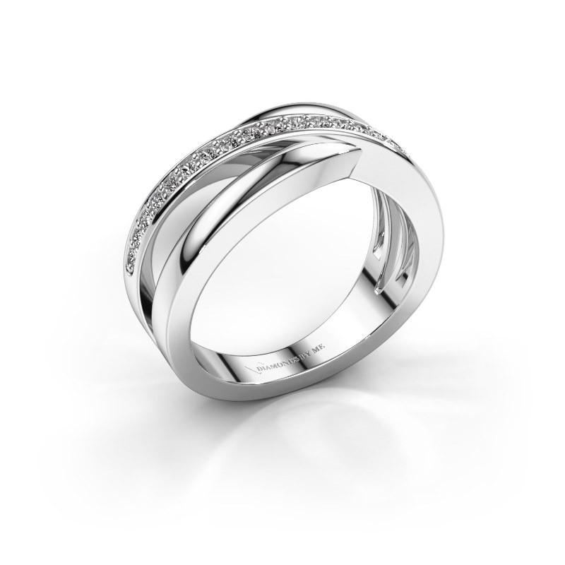 Ring Colette 585 witgoud diamant 0.20 crt