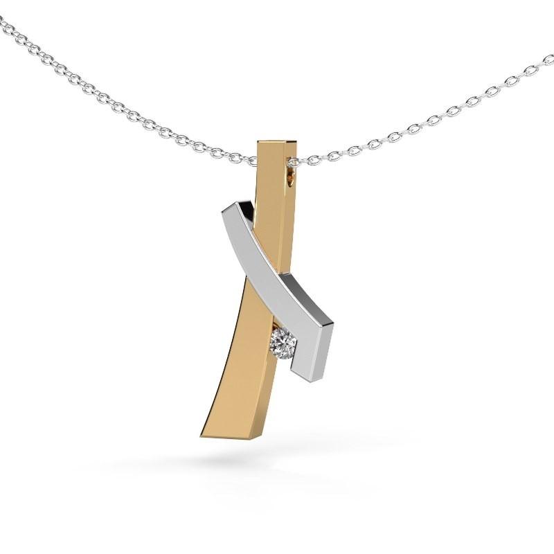 Hanger Alyssa 585 goud diamant 0.08 crt