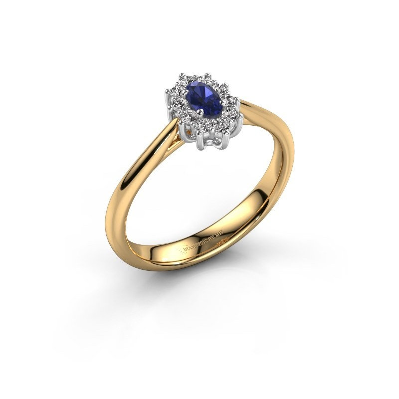 Gold Lady Diana Enement Ring Leesa 1 With Shire