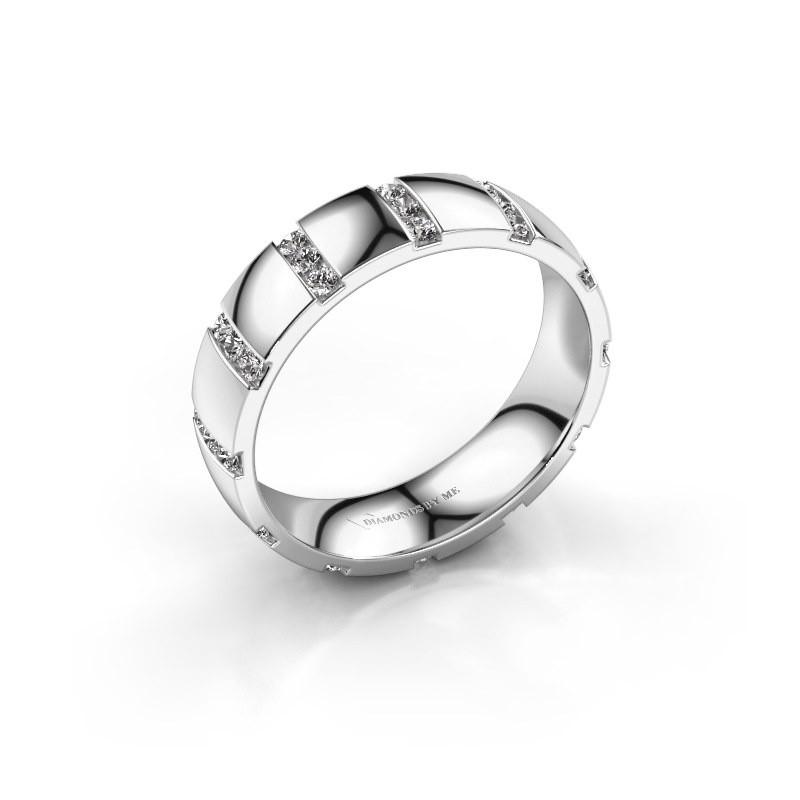 Huwelijksring Juul 925 zilver zirkonia ±5x1.8 mm