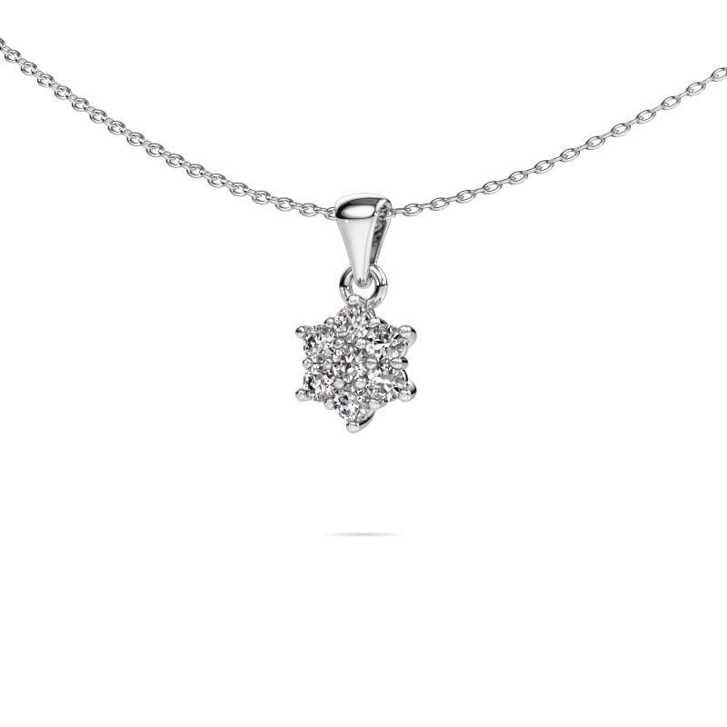 Ketting Chantal 585 witgoud diamant 0.385 crt