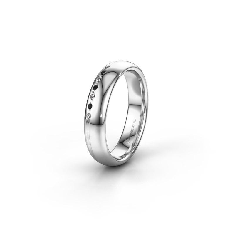 Vriendschapsring WH2144L34A 925 zilver zwarte diamant ±4x1.7 mm