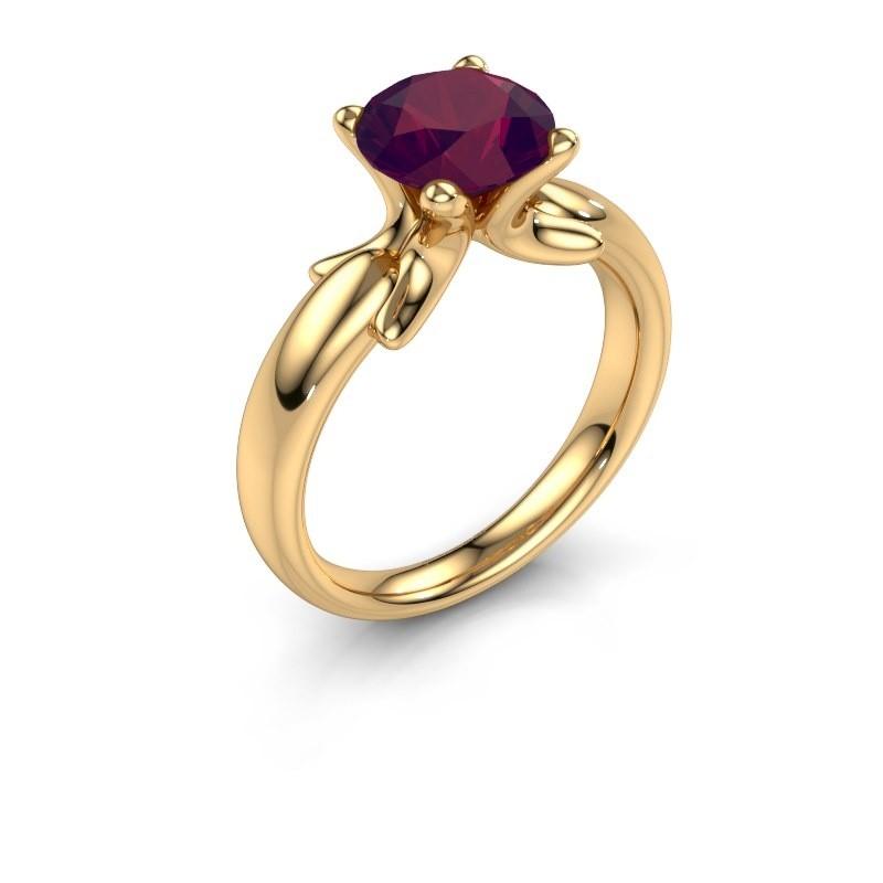 Ring Jodie 585 goud rhodoliet 8 mm