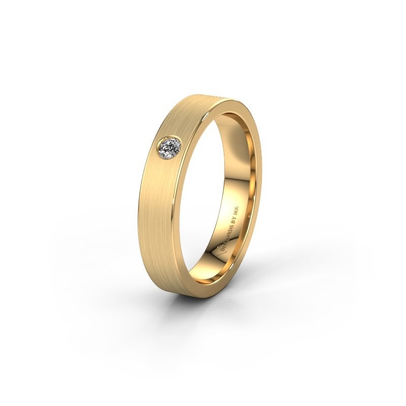 Trouwring WH0101L14AM 585 goud diamant ±4x1.7 mm