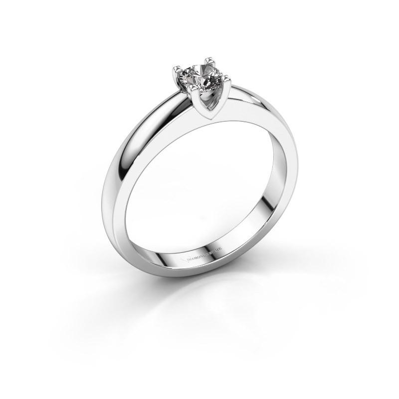 Isabella 1 Solitar Verlobungsring Weissgold Diamant 0 25 Crt