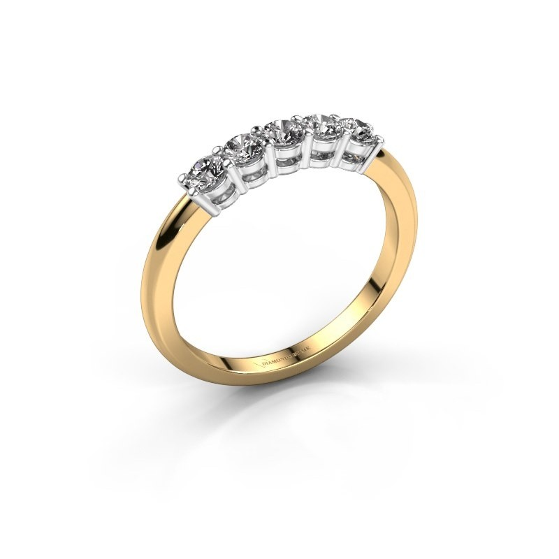 Promise ring Michelle 5 585 goud diamant 0.40 crt