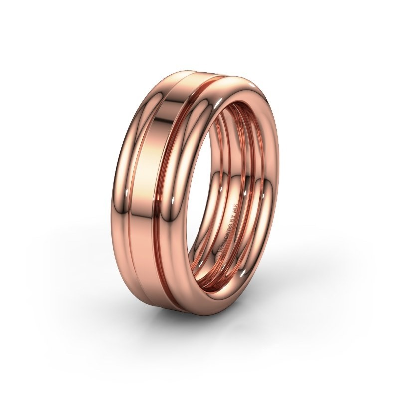 Vriendschapsring WH6018M 585 rosé goud ±8x2.8 mm