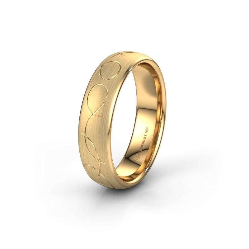 Trouwring WH2068M36BM 585 goud ±6x2 mm