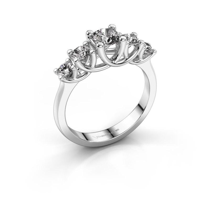 Memoire Weissgold Verlobungsring Jet Mit 0 50 Crt Diamant Bester
