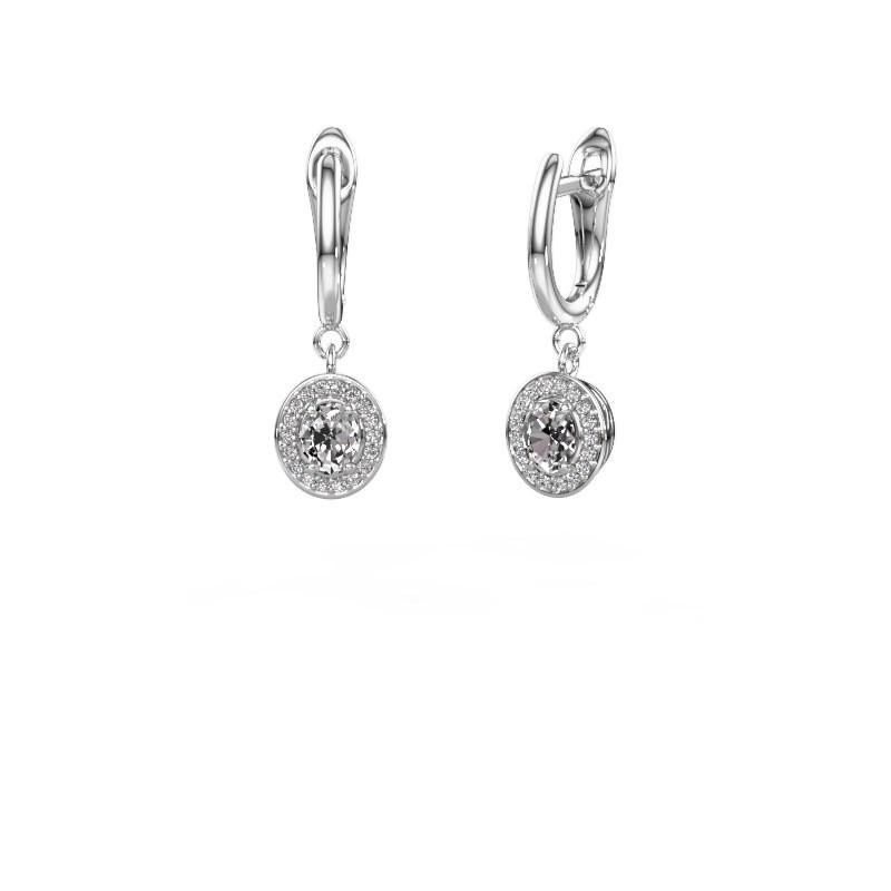 Oorhangers Nakita 585 witgoud diamant 0.880 crt