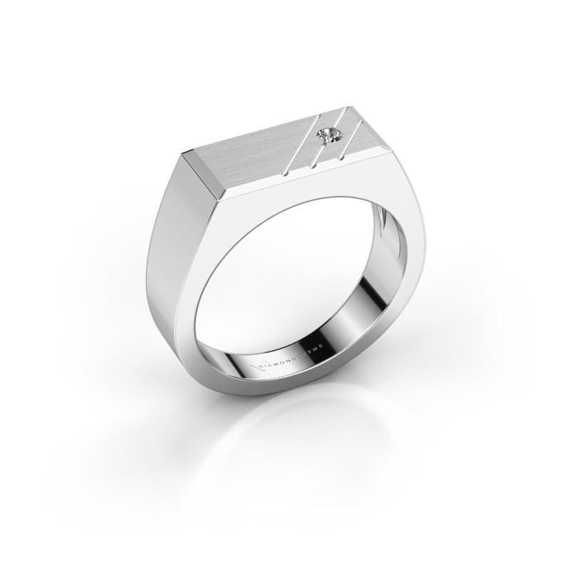 Heren ring Dree 5 585 witgoud diamant 0.055 crt