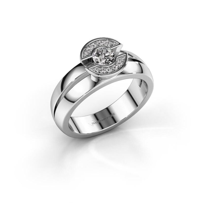 Ring Jeanet 1 585 witgoud diamant 0.30 crt