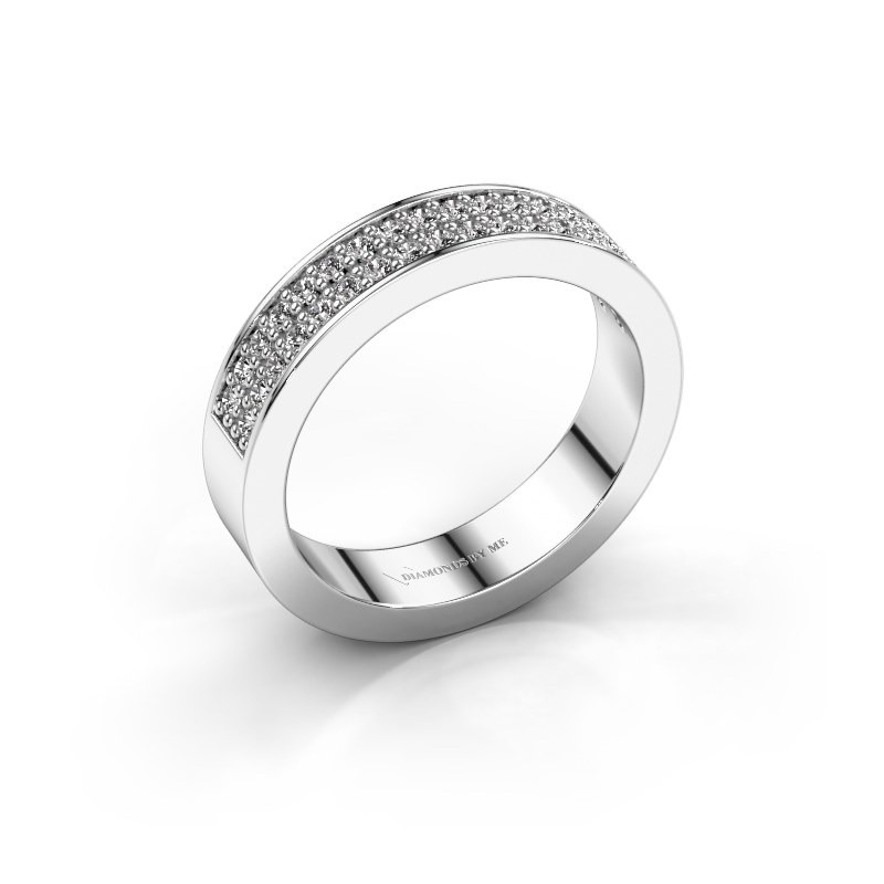 Aanschuifring Catharina 4 585 witgoud diamant 0.36 crt