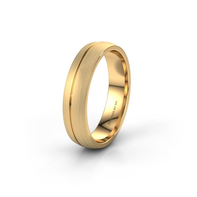 Trouwring WH0166M25A 375 goud ±5x1.7 mm