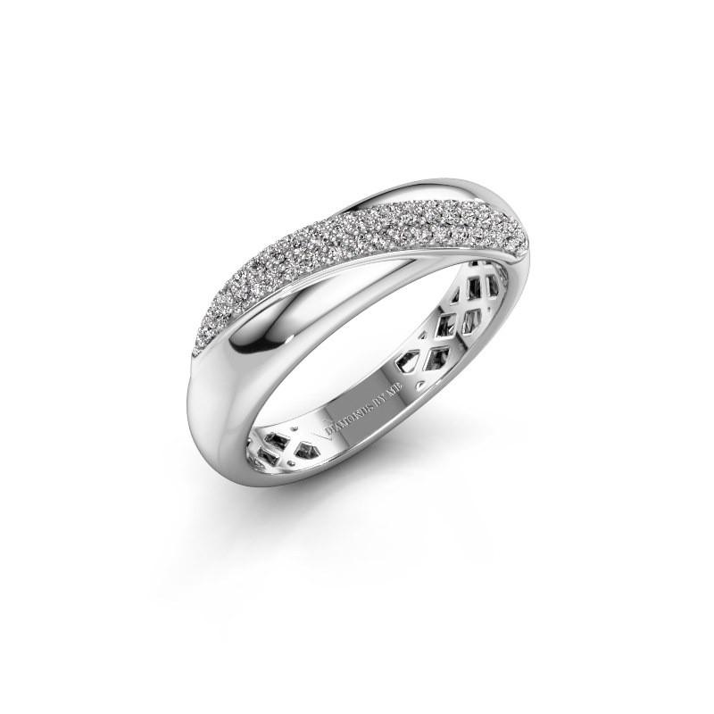 Ring Rosie 585 witgoud diamant 0.259 crt