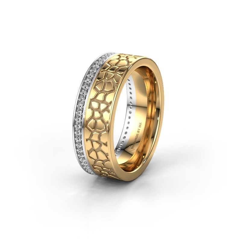 Trouwring WH2070L17C 585 witgoud diamant ±7x2.2 mm