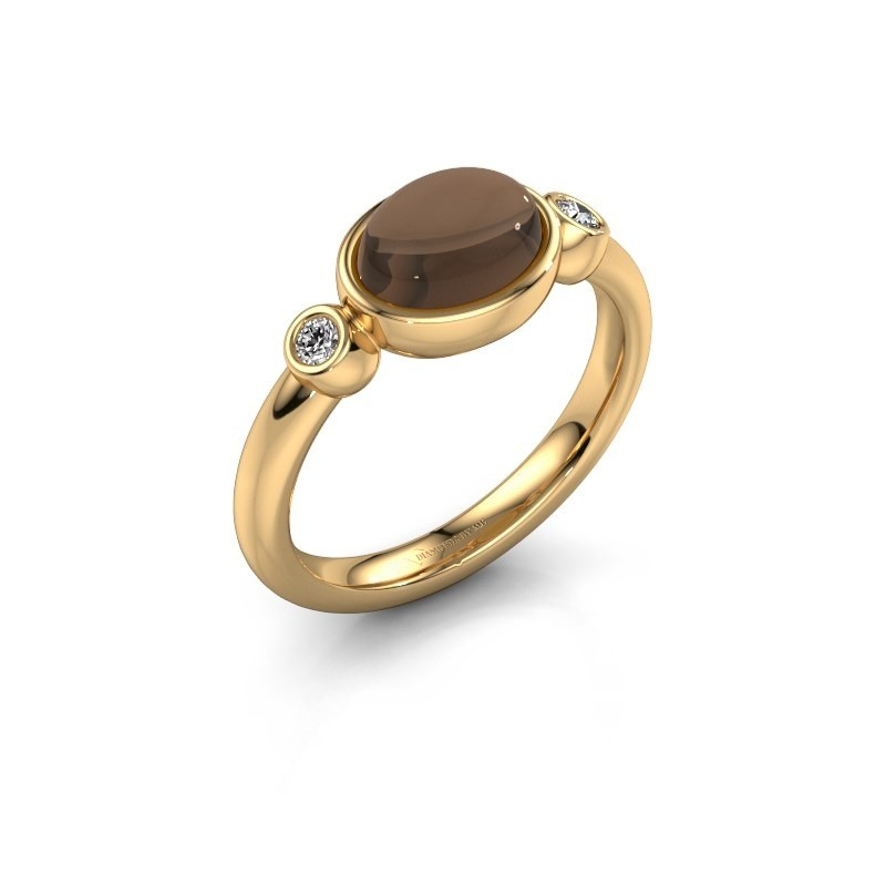 Ring Liane 585 goud rookkwarts 8x6 mm