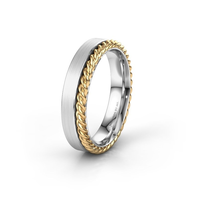 Trouwring WH2017M 585 witgoud ±5x2 mm