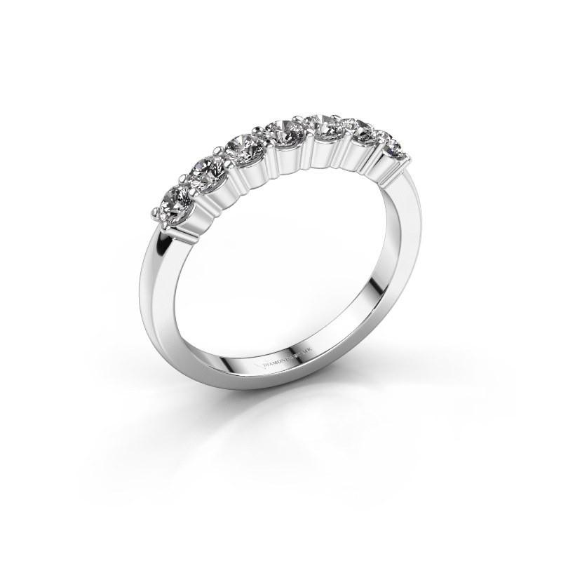 Verlovingsring Yasmin 7 585 witgoud diamant 0.56 crt
