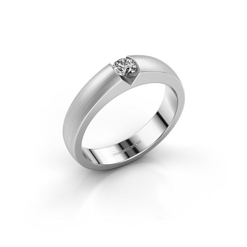 Verlovingsring Theresia 585 witgoud diamant 0.15 crt