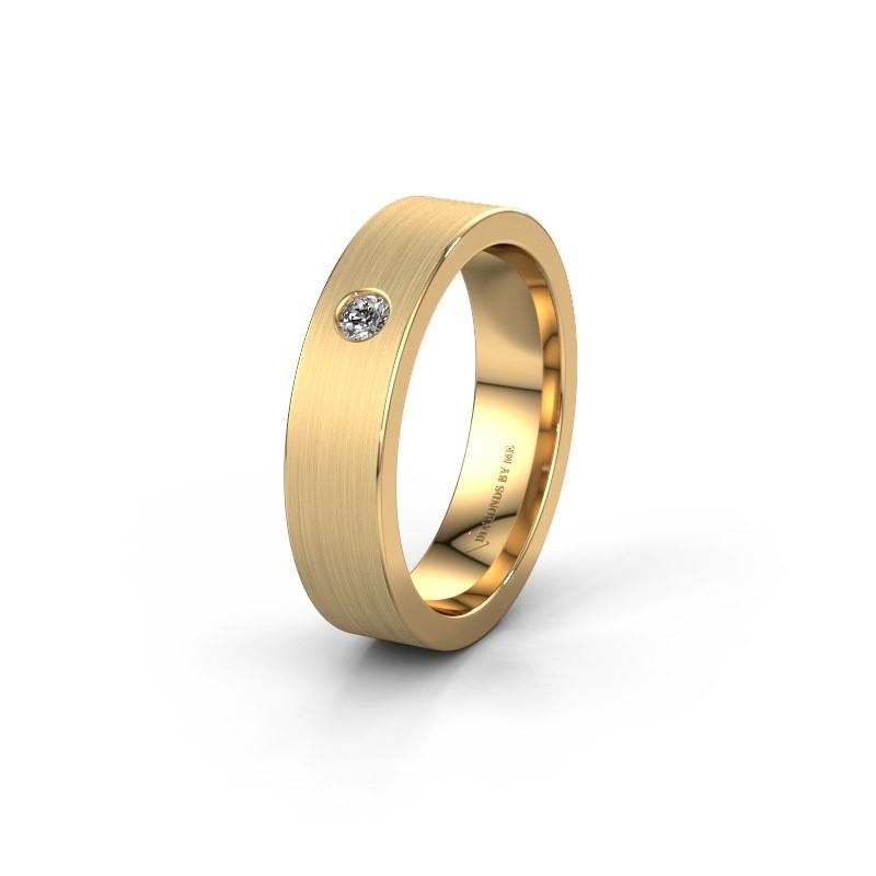 Trouwring WH0101L15BM 585 goud diamant ±5x1.5 mm