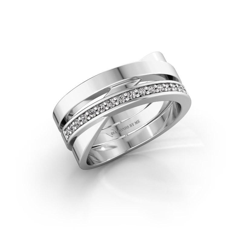 Ring Yolando 585 witgoud diamant 0.16 crt