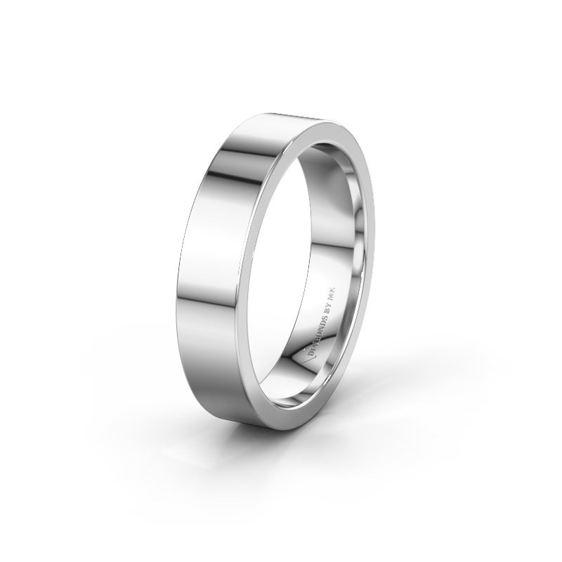 Trouwring WH0100M15BP 585 witgoud ±5x2 mm