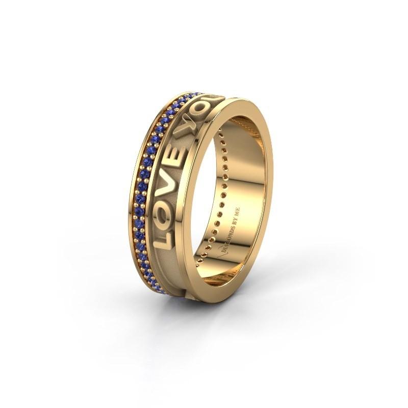 Wedding ring namering 2 585 gold ±6x2 mm