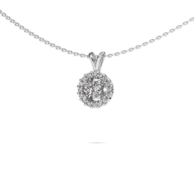 Hanger Tennille 585 witgoud diamant 0.37 crt