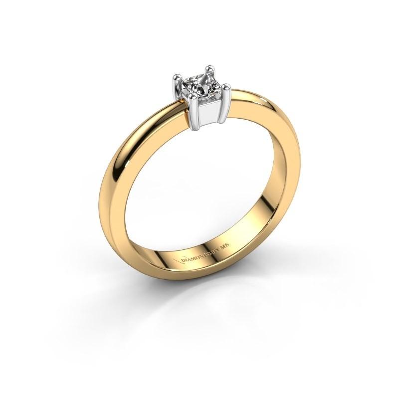 Verlovingsring Florentina Square 585 goud diamant 0.40 crt