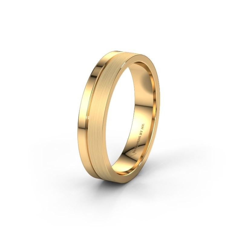 Trouwring WH0157M14XPM 585 goud ±4x1.5 mm