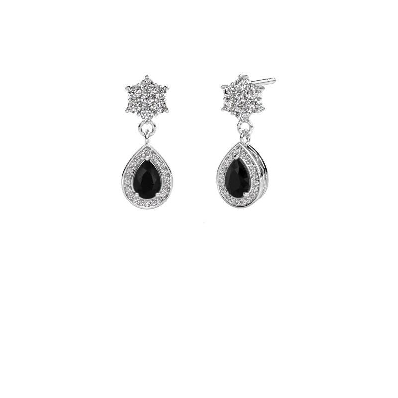 Oorhangers Era 950 platina zwarte diamant 1.61 crt