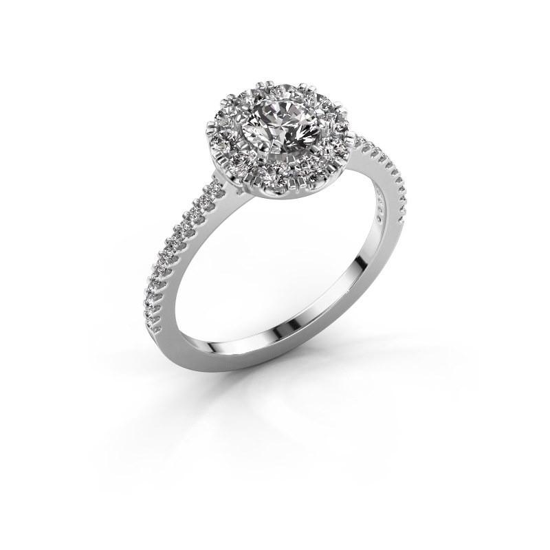 Verlovingsring Misti 2 585 witgoud diamant 0.92 crt