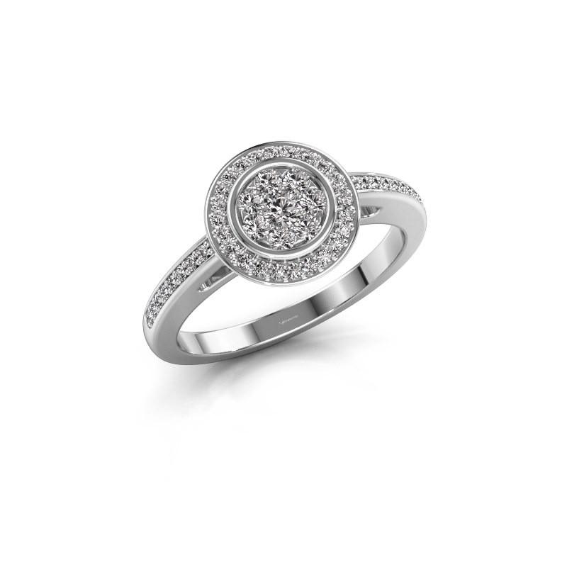 Aanzoeksring Aida 585 witgoud diamant 0.36 crt