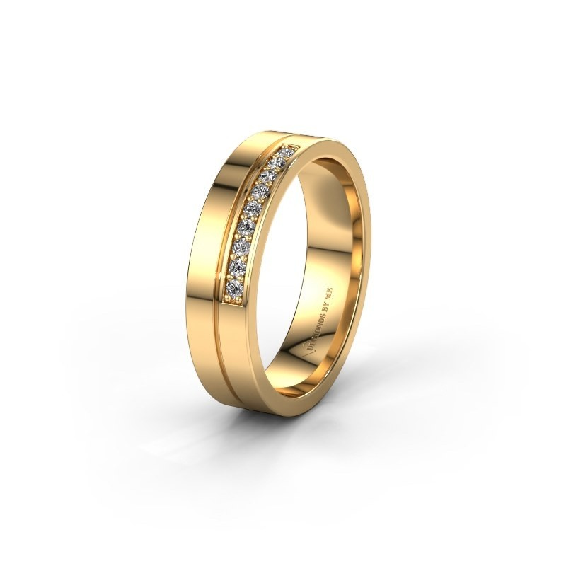 Trouwring WH0213L15AP 585 goud diamant ±5x1.7 mm