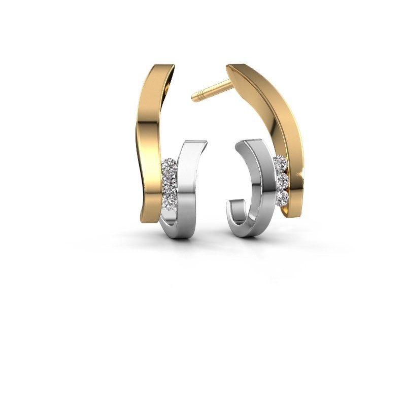 Oorbellen Juliette 585 goud diamant 0.09 crt