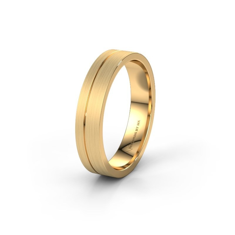 Trouwring WH0160M14XM 585 goud ±4x1.5 mm