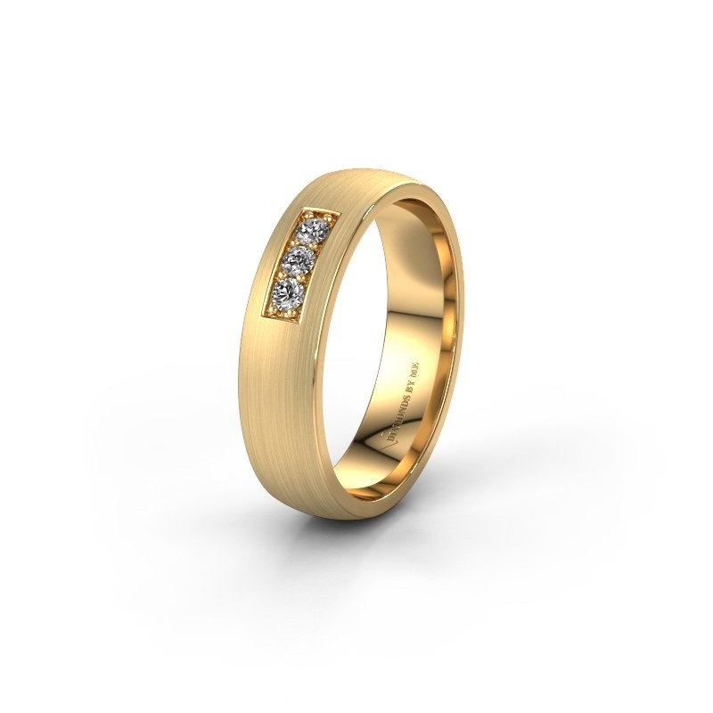 Trouwring WH0110L25AM 585 goud diamant ±5x1.7 mm