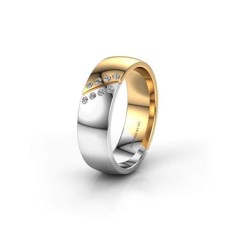 Trouwring WH1201L26AP8 585 witgoud diamant ±6x1.7 mm