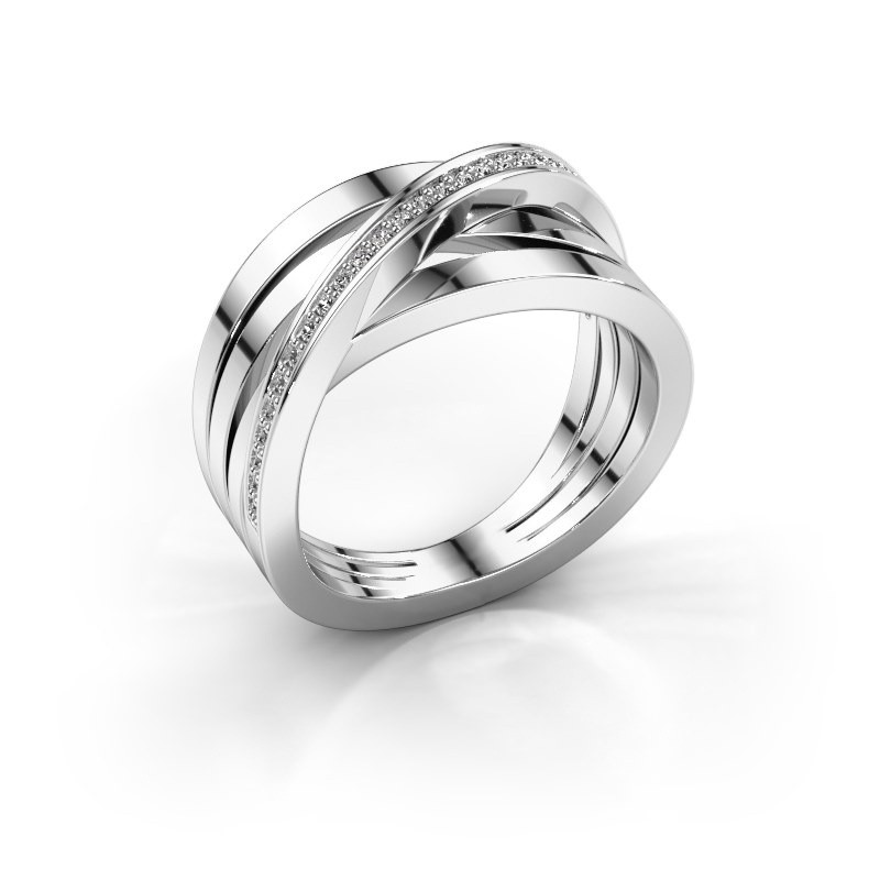 Ring Esmee 585 witgoud diamant 0.145 crt