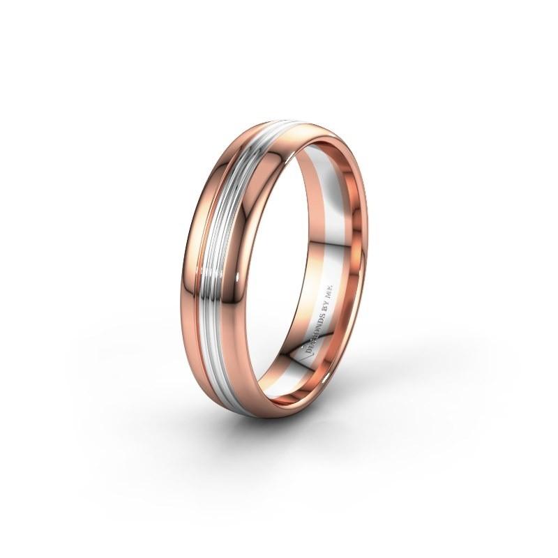 Trouwring WH0405M35X 585 rosé goud ±5x1.5 mm