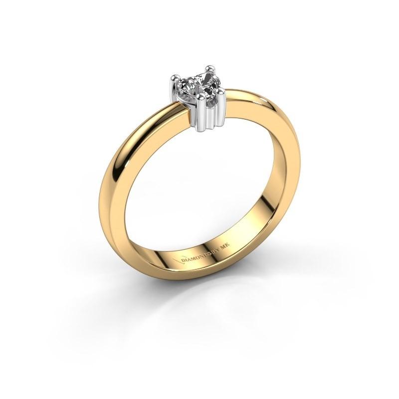 Aanzoeksring Florentina heart 585 goud diamant 0.25 crt