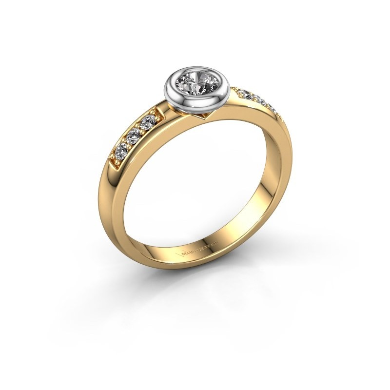 Verlovingsring Lieke 585 goud diamant 0.37 crt