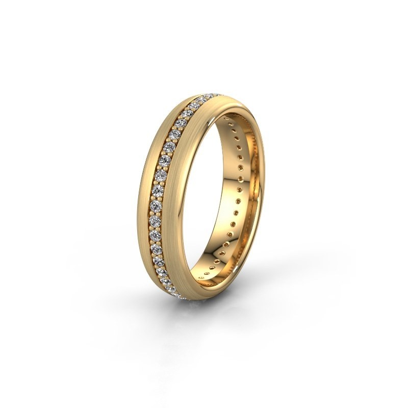 Vriendschapsring WH0103L35BM 585 goud diamant 0.44 crt ±5x2 mm