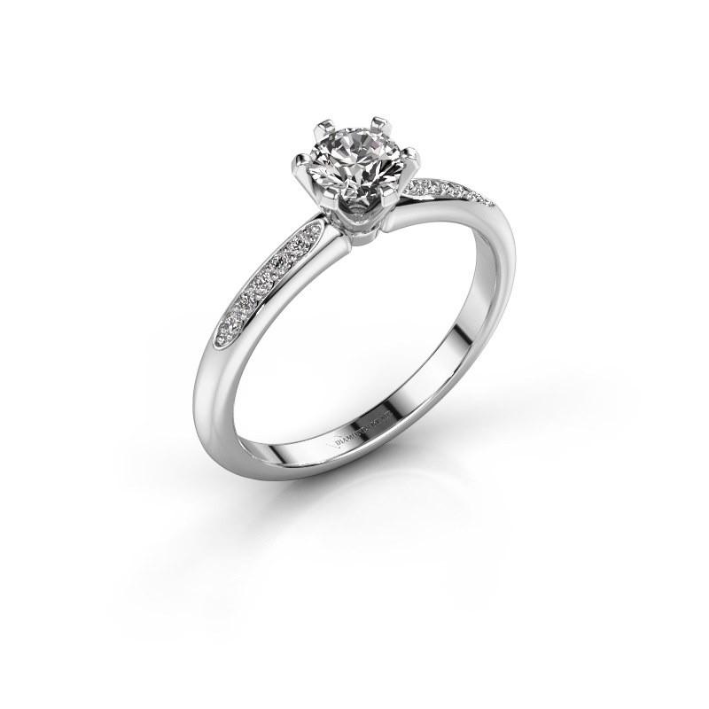 Verlovingsring Tiffy 2 585 witgoud diamant 0.475 crt