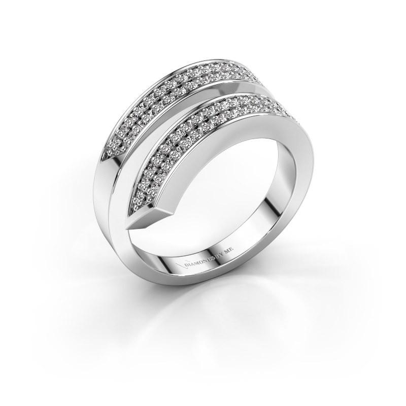 Ring Pien 585 witgoud diamant 0.450 crt