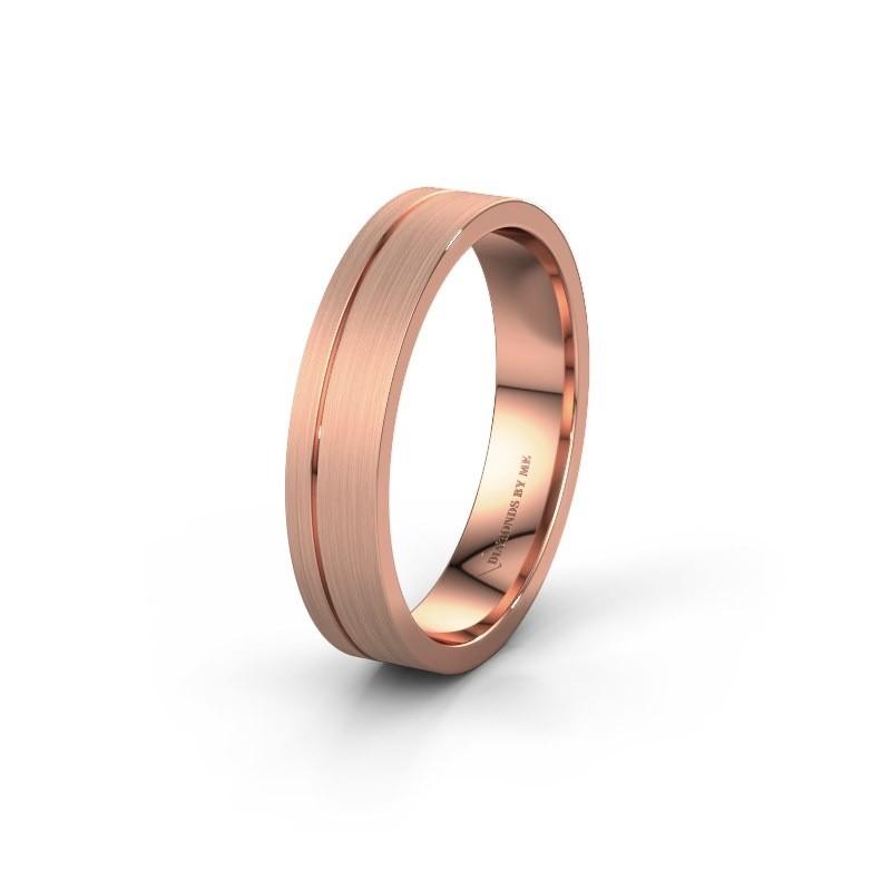 Trouwring WH0158M14XM 585 rosé goud ±4x1.5 mm