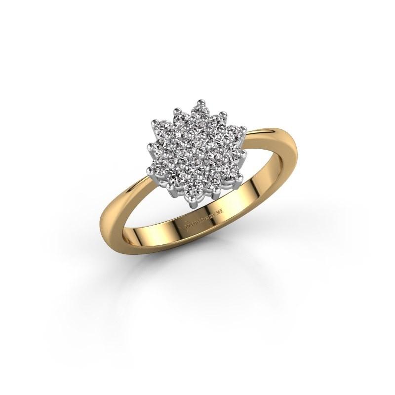 Verlovingsring Vickey 1 585 goud diamant 0.38 crt